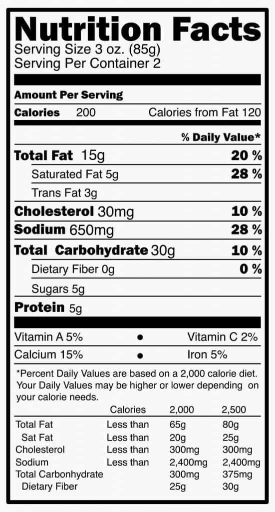 nutritional-label