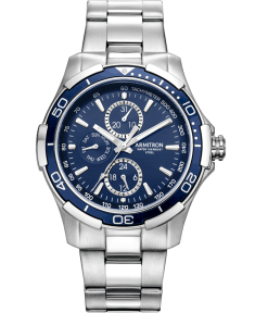Men's Stainless-Steel Multi-Function Blue Dial Bracelet Watch