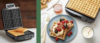 KRUPS 4-Slice Belgian Style Waffle Make